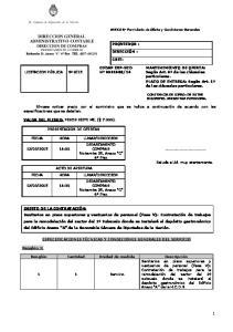 DIRECCION GENERAL ADMINISTRATIVO CONTABLE DIRECCION DE COMPRAS