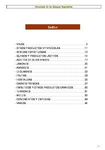 Direcciones de los Consejos Reguladores. Indice