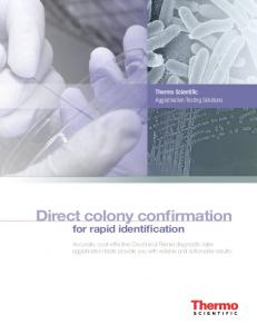 Direct colony confirmation