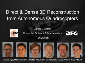 Direct & Dense 3D Reconstruction from Autonomous Quadrocopters