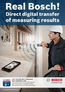 Direct digital transfer of measuring results