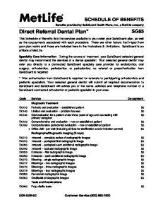 Direct Referral Dental Plan*