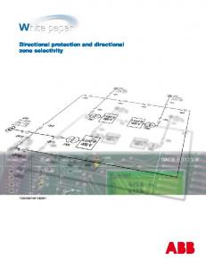 Directional protection and directional zone selectivity 1SDC007401G0201