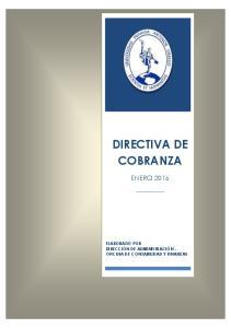 DIRECTIVA DE COBRANZA