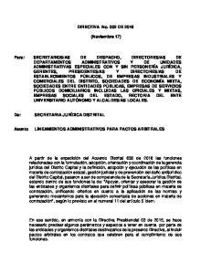 DIRECTIVA No. 002 DE (Noviembre 17)
