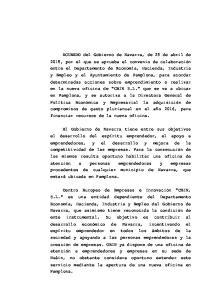 directo a CEIN S.L. De conformidad con lo expuesto, el Gobierno de Navarra, a propuesta de la Consejera de Economía, Hacienda, Industria y Empleo,