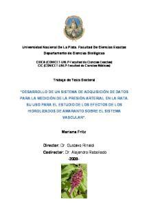 Director: Dr. Gustavo Rinaldi Codirector: Dr. Alejandro Rebolledo