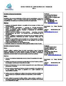 DIRECTORIO DE COMISIONES DE TRABAJO 2011