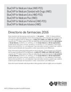 Directorio de farmacias 2016