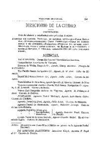 DIRECTORIO DE LA CIUDAD