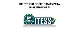 DIRECTORIO DE PROGRMAS PARA EMPRENDEDORES