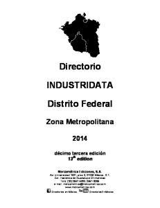 Directorio INDUSTRIDATA. Distrito Federal