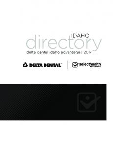 directory IDAHO delta dental idaho advantage 2017