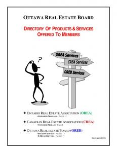 DIRECTORY OF PRODUCTS & SERVICES OFFERED TO MEMBERS