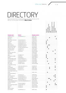 DIRECTORY. offsite 2005 directory