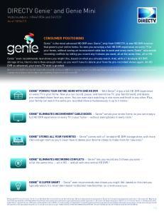 DIRECTV Genie and Genie Mini