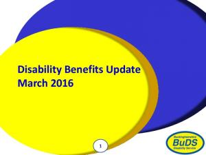 Disability Benefits Update March 2016