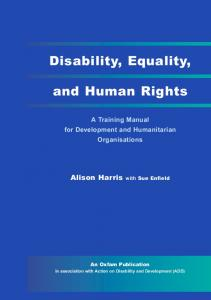Disability, Equality, and Human Rights