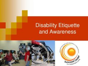 Disability Etiquette and Awareness