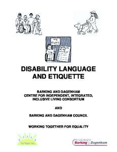 DISABILITY LANGUAGE AND ETIQUETTE