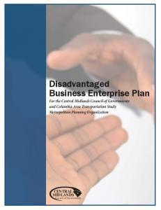 Disadvantaged Business Enterprise Plan