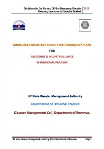 Disaster Management Cell, Department of Revenue