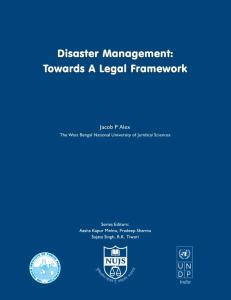 Disaster Management: Towar