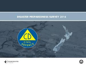 DISASTER PREPAREDNESS SURVEY 2016