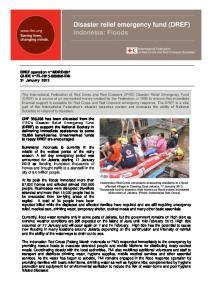 Disaster relief emergency fund (DREF) Indonesia: Floods