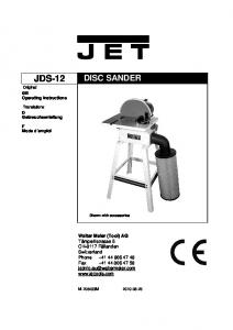 DISC SANDER. Shown with accessories