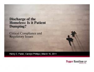 Discharge of the Homeless: Is it Patient Dumping?
