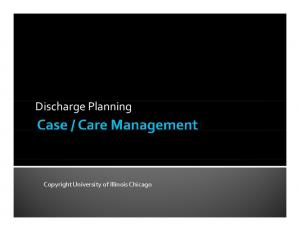Discharge Planning. Copyright University of Illinois Chicago