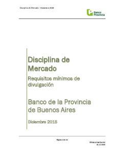 Disciplina de Mercado Diciembre 2015