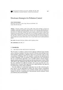 Disclosure Strategies for Pollution Control