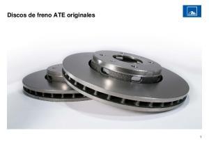 Discos de freno ATE originales