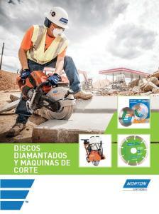 DISCOS DIAMANTADOS Y MÁQUINAS DE CORTE