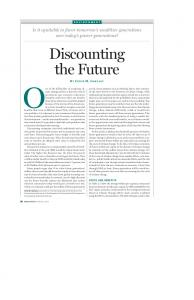 Discounting the Future