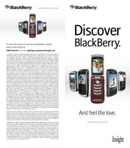 Discover. BlackBerry