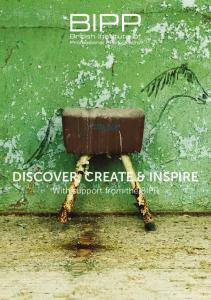 DISCOVER, CREATE & INSPIRE. With support from the BIPP