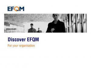Discover EFQM. For your organisation