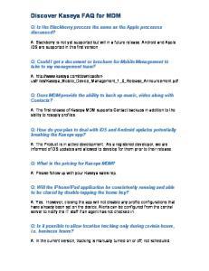 Discover Kaseya FAQ for MDM