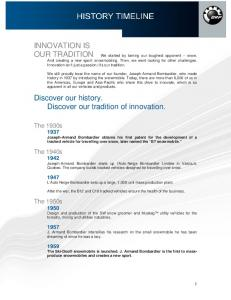 Discover our history. Discover our tradition of innovation
