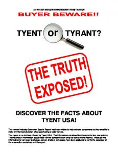 DISCOVER THE FACTS ABOUT TYENT USA!