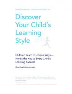 Discover Your Child s Learning Style
