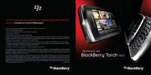Discover your new BlackBerry Torch 9800