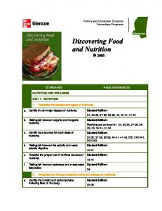 Discovering Food and Nutrition 2005
