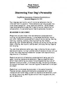 Discovering Your Dog s Personality