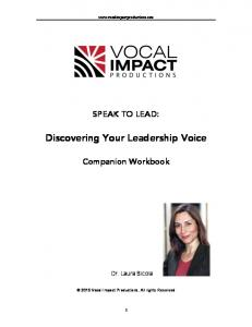 Discovering Your Leadership Voice
