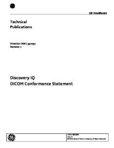 Discovery IQ DICOM Conformance Statement