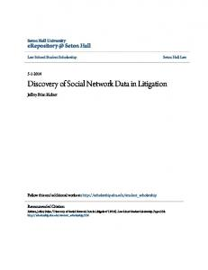 Discovery of Social Network Data in Litigation
